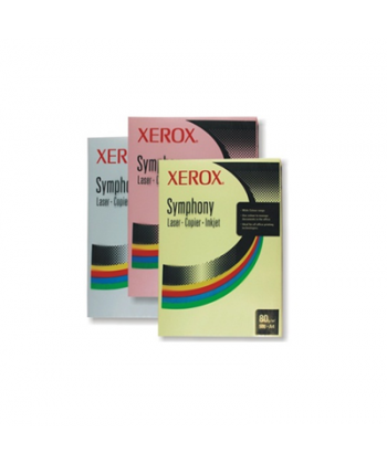 Carton color pastel A4 Xerox Symphony, 250 coli/top, 160 g/mp