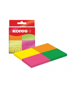 Notes autoadeziv 38x51mm KORES 4 culori/set
