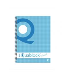 Caiet cu spira A4 Pigna Quablock coperti carton 120 file