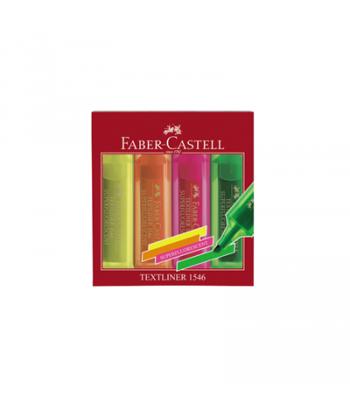 Text marker 1-5mm Faber Castell 1546 set 4 culori