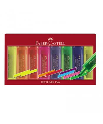 Text marker 1-5mm Faber Castell 1546 set 8 culori