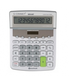 Calculator birou Q-Connect 01607 154x205mm 12 digit