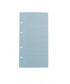 File clasor carti vizita cu inele A4/2