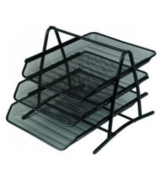 Tavite plasa metalica documente cu picioare, 3 tavite/set