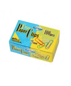 Agrafe birou colorate 28mm, 100 bucati/cutie