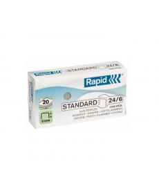 Capse birou 24/6 - 20 coli RAPID