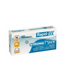 Capse birou 24/6 - 30 coli RAPID Strong
