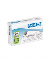 Capse birou 26/6 - 20 coli RAPID