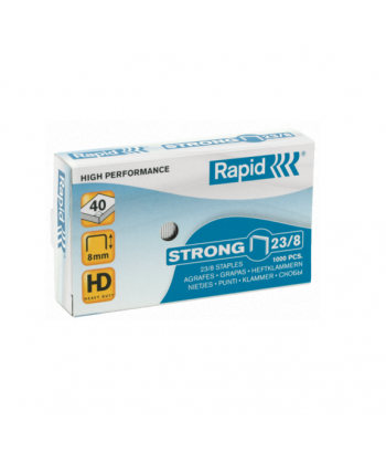 Capse profesionale 23/8 - 40 coli RAPID Strong